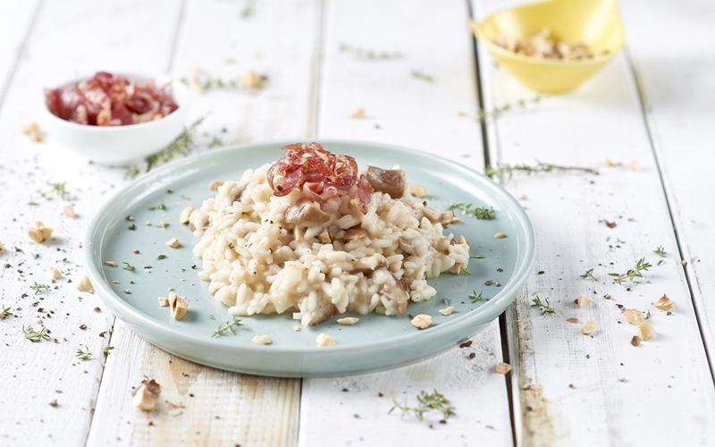 Hearty Pork Sausage Risotto