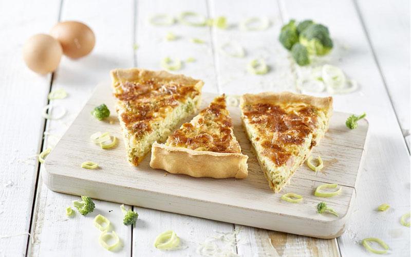 Broccoli + Mortadella Quiche