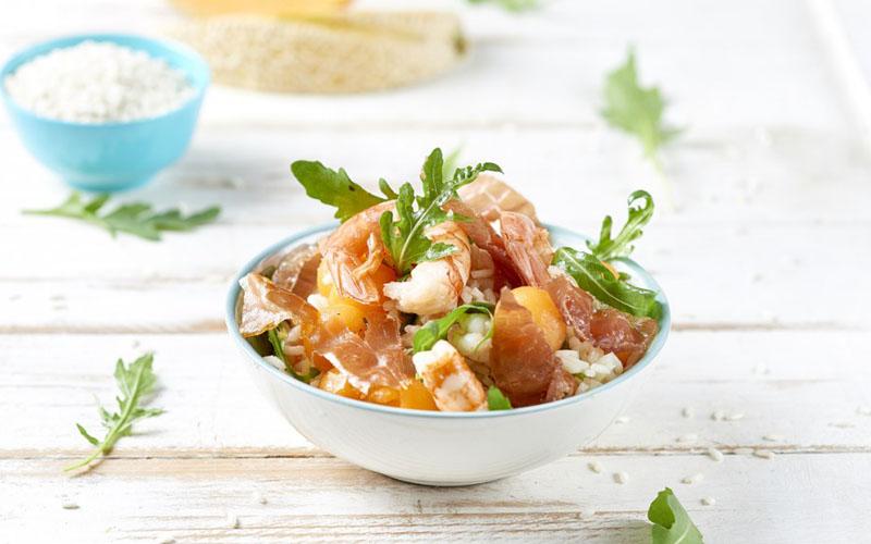 Rice Salad with Veroni Ham