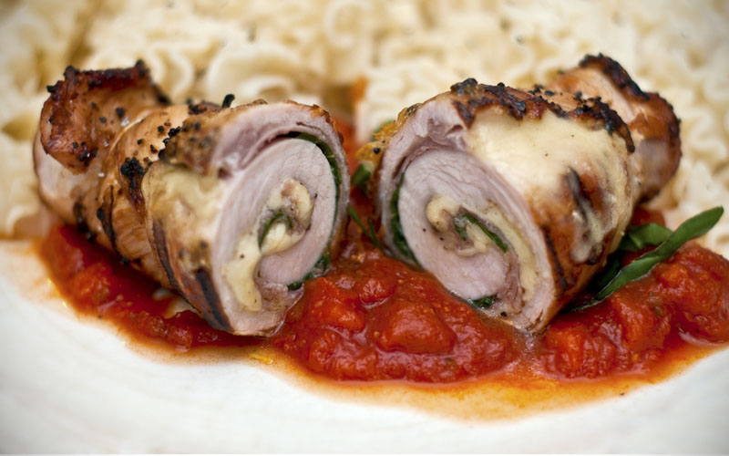 Turkey Mortadella Involtini