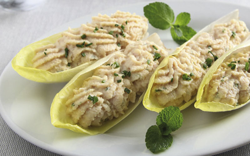Ham-filled Endive Boats