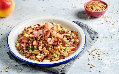 Spelt with Apple, Radicchio and Speck
