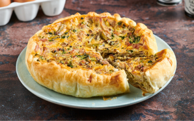 Artichoke and Mortadella Quiche